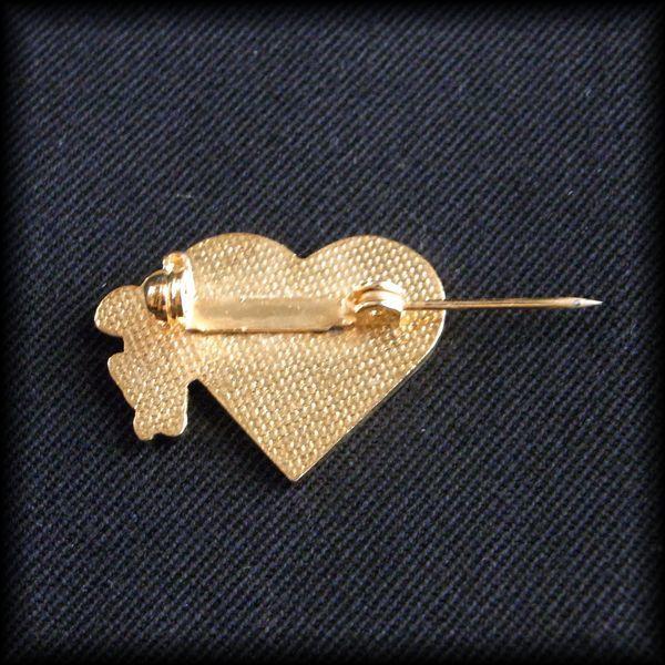 USA BOWLING PIN ボウリングピンバッジ MY HEART BELONGS TO BOWLING ハート ネズミ No 63