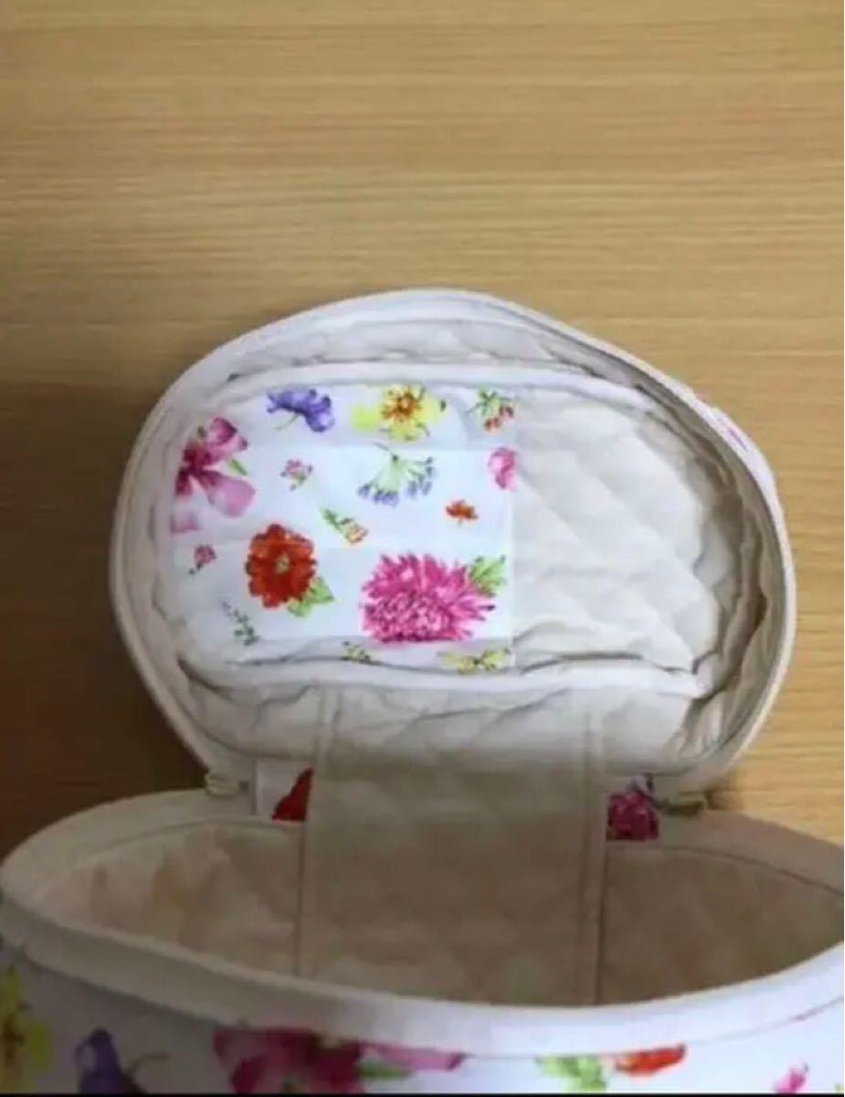 バニティポーチ  コスメポーチ  化粧ポーチ ハンドメイド 花柄