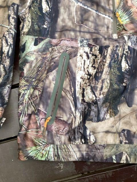 Mossy Oak】美品!迷彩プルオーバージャケット: USサイズM(日本L): 裏フリース Country柄 狩猟 射撃 シューティング ハンティング