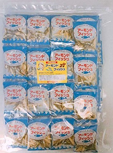 小袋 アーモンドフィッシュ 100袋 お徳用パック 給食用 国産小魚_画像1