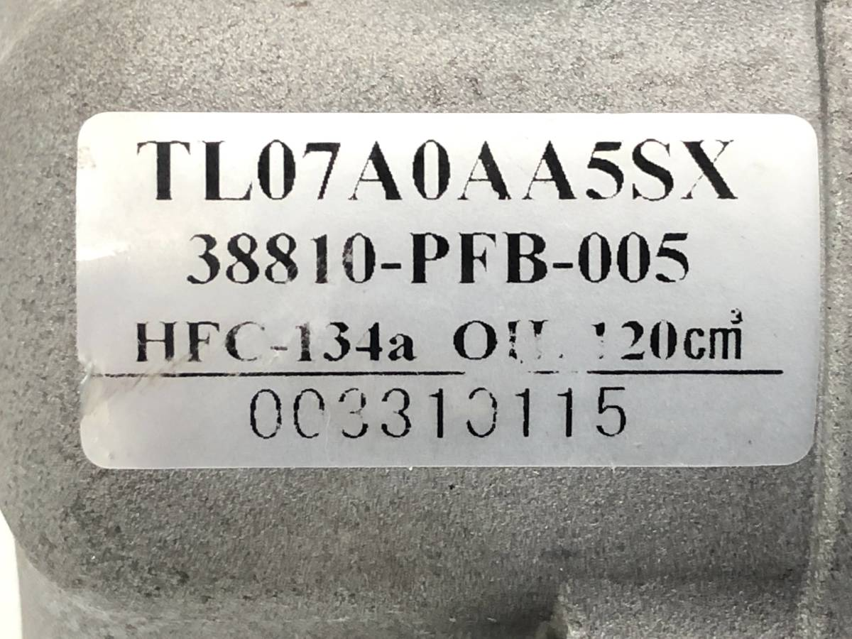 _b44151 ホンダ ザッツ ABA-JD1 エアコン コンプレッサー AC クーラー 38810-PFB-005 JD2_画像6