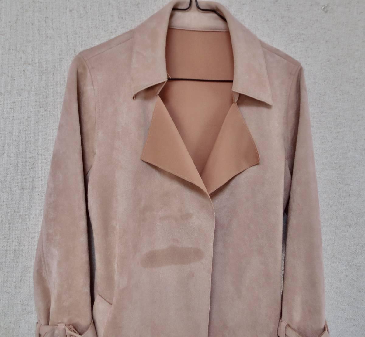 クロチェーラ crociera マーノガーメントコンプレックス MANO garment complex  フェイクスウェード コート_画像3