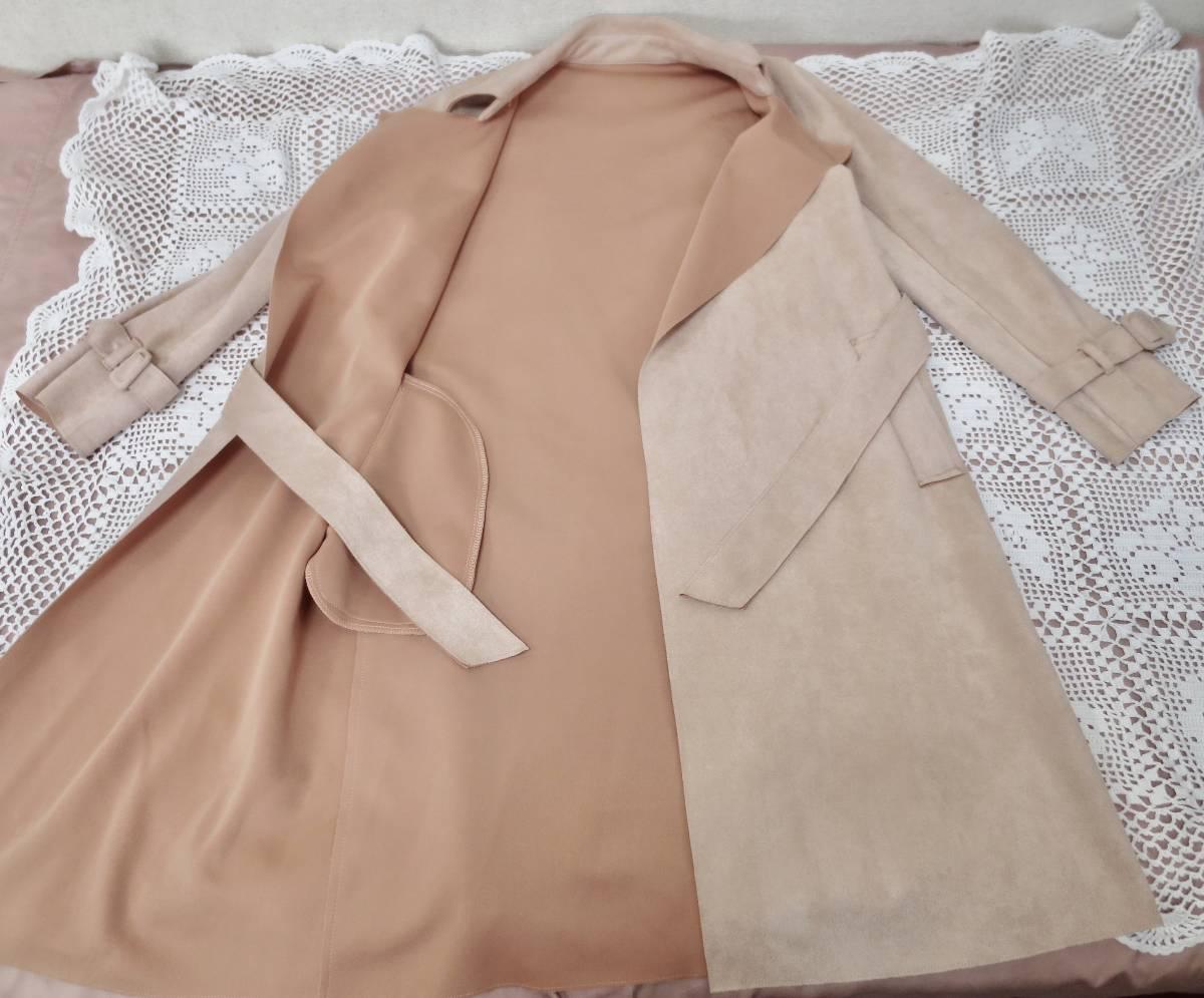 クロチェーラ crociera マーノガーメントコンプレックス MANO garment complex  フェイクスウェード コート_画像5