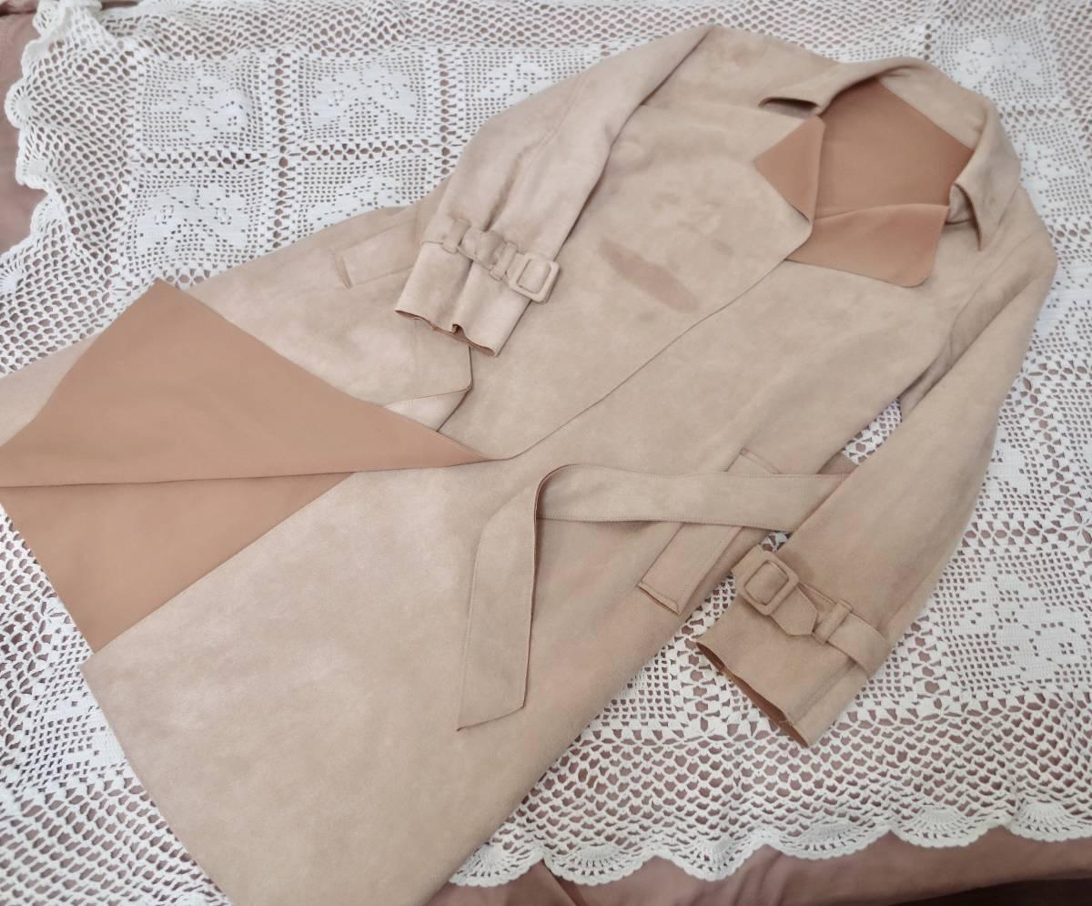 クロチェーラ crociera マーノガーメントコンプレックス MANO garment complex  フェイクスウェード コート_画像8