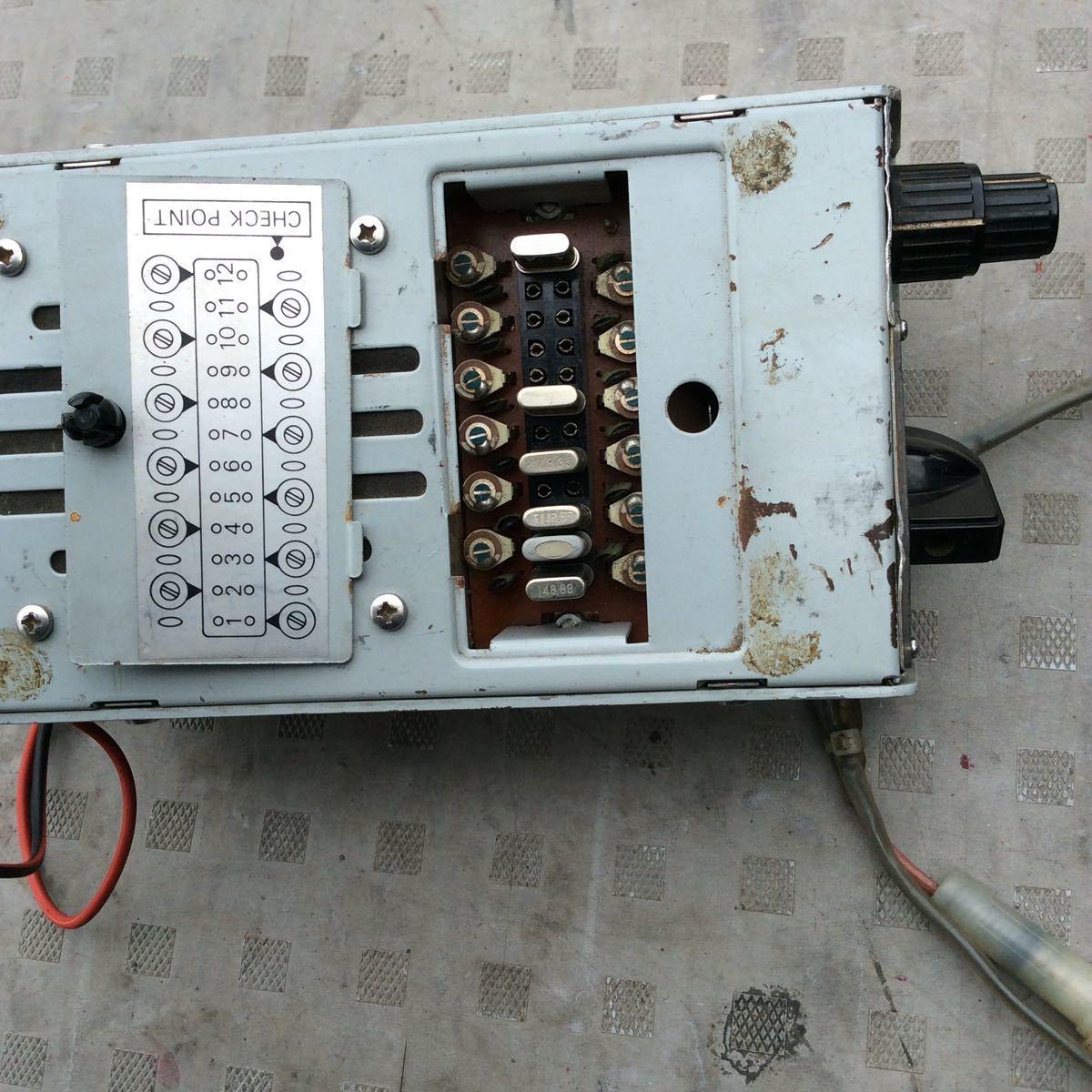 クリスタル付きハムモニター とDC-DCコンバーターセット