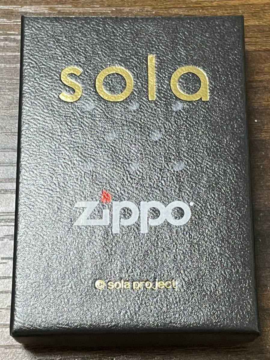 zippo sola 森宮蒼乃 銀仕上げ 限定品 空 両面刻印 イベント 2007年製 シリアルナンバー NO.0079/0200 専用ケース 保証書