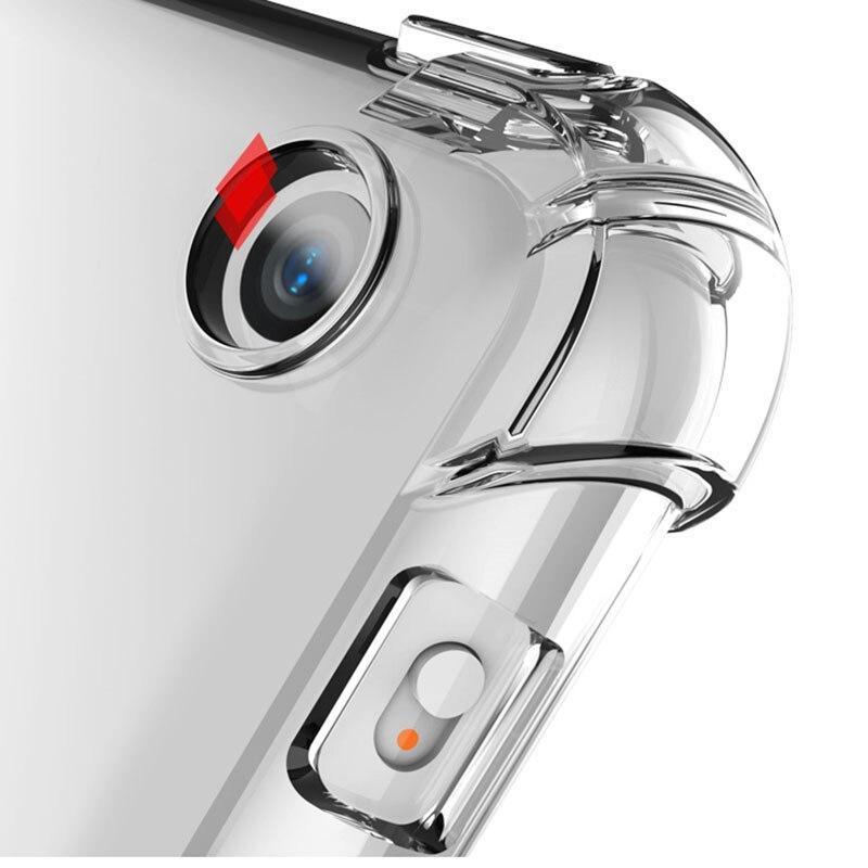 耐衝撃シリコンケースipadのミニエアープロ1 2 3 4 5 6 7 8 7.9 9.7 10.2 10.5 11柔軟なバンパークリア透明な背面カバー_画像5