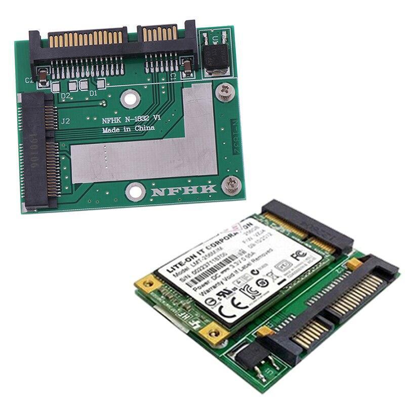 Msata ssd 2.5インチsata 6.0gpsアダプタコンバータカードモジュールボードミニpcie ssd_画像1