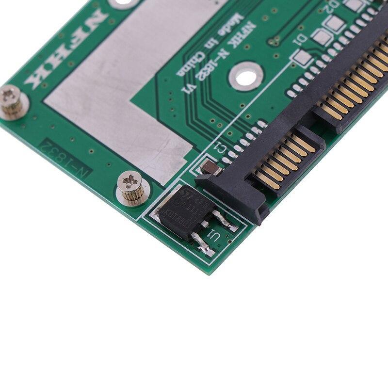 Msata ssd 2.5インチsata 6.0gpsアダプタコンバータカードモジュールボードミニpcie ssd_画像4