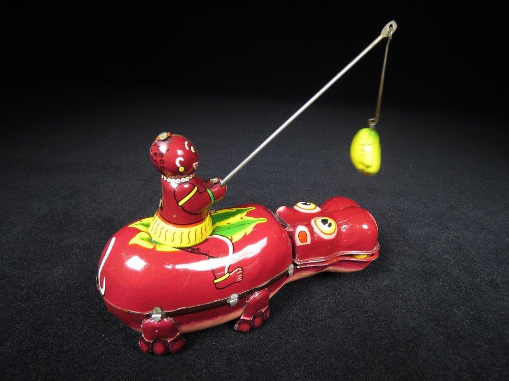 当時物 ブリキ ぜんまい TPS JAPAN HAPPY HIPPO カバ 日本製 可動品 ビンテージ おもちゃ 玩具_画像5