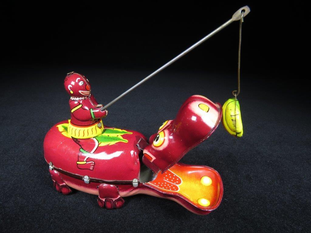 当時物 ブリキ ぜんまい TPS JAPAN HAPPY HIPPO カバ 日本製 可動品 ビンテージ おもちゃ 玩具_画像3
