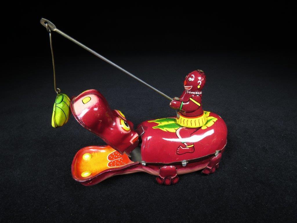 当時物 ブリキ ぜんまい TPS JAPAN HAPPY HIPPO カバ 日本製 可動品 ビンテージ おもちゃ 玩具_画像7