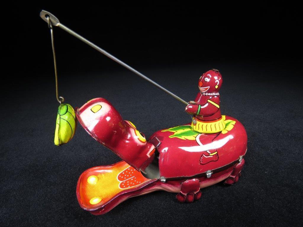 当時物 ブリキ ぜんまい TPS JAPAN HAPPY HIPPO カバ 日本製 可動品 ビンテージ おもちゃ 玩具_画像1
