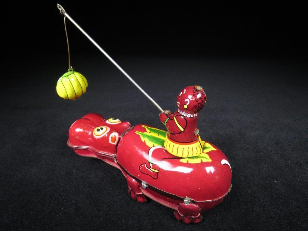当時物 ブリキ ぜんまい TPS JAPAN HAPPY HIPPO カバ 日本製 可動品 ビンテージ おもちゃ 玩具_画像6