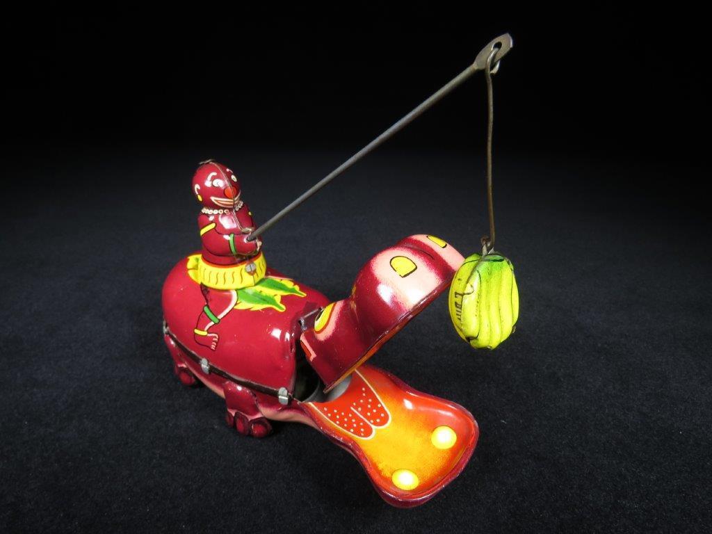 当時物 ブリキ ぜんまい TPS JAPAN HAPPY HIPPO カバ 日本製 可動品 ビンテージ おもちゃ 玩具_画像9