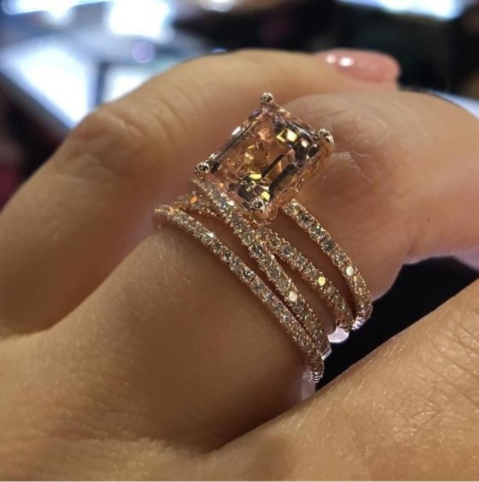 【今だけセール・数量1個】 残り僅か 女性 ファッション ローズゴールド ジュエリー 指輪 レディ―ス アクセサリー S607_画像1