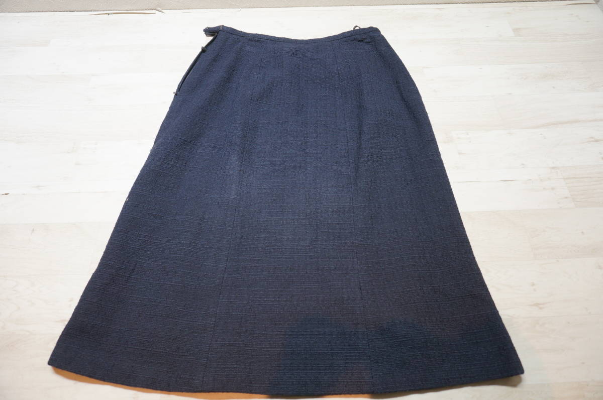 【1702A】RANGE ROVER レンジローバー ネイビー スカートスーツ ツイード 上下セット 日本製 サイズ38_画像7