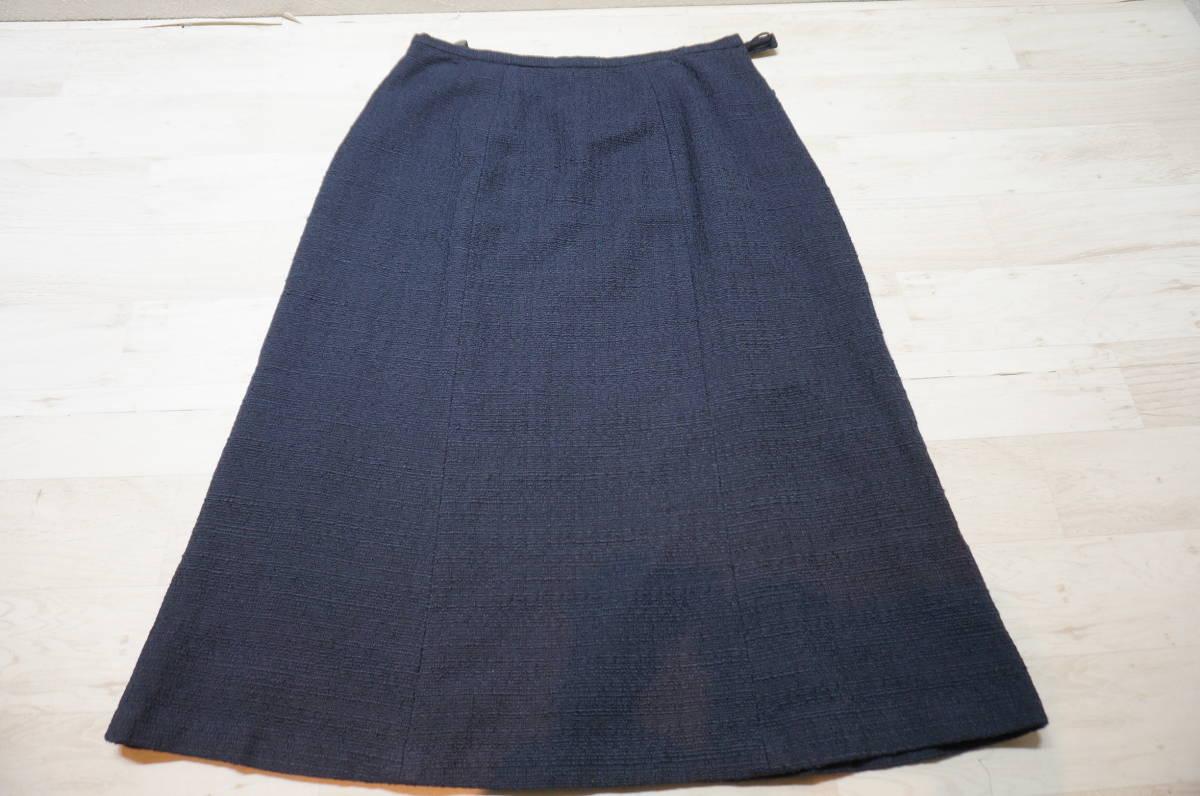 【1702A】RANGE ROVER レンジローバー ネイビー スカートスーツ ツイード 上下セット 日本製 サイズ38_画像6