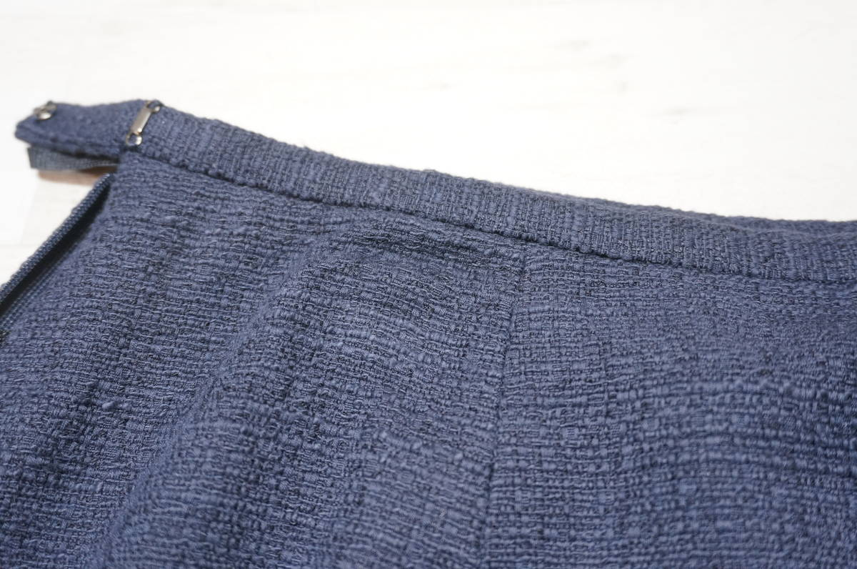 【1702A】RANGE ROVER レンジローバー ネイビー スカートスーツ ツイード 上下セット 日本製 サイズ38_画像8