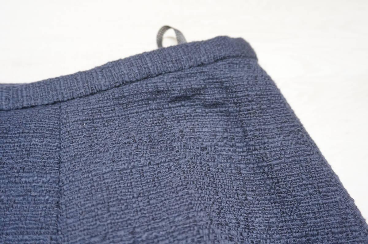 【1702A】RANGE ROVER レンジローバー ネイビー スカートスーツ ツイード 上下セット 日本製 サイズ38_画像9