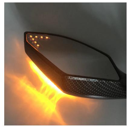 V183:2X LED ターンライト サイドミラー ターンシグナル インジケーター バック ミラー オートバイ ホンダ スズキ ドゥカティ ヤマハ_画像5