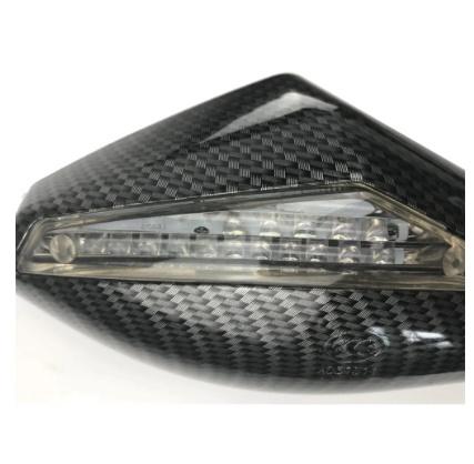 V183:2X LED ターンライト サイドミラー ターンシグナル インジケーター バック ミラー オートバイ ホンダ スズキ ドゥカティ ヤマハ_画像4