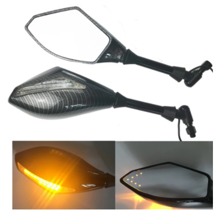 V183:2X LED ターンライト サイドミラー ターンシグナル インジケーター バック ミラー オートバイ ホンダ スズキ ドゥカティ ヤマハ_画像1