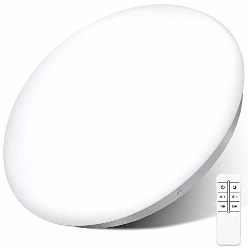シーリングライト リモコン付き 33W 無段階調光 明るさメモリ機能 LEDシーリングライト ~6畳 昼白色 タイマー設定 照明器具 省エネ 長寿命 _画像1