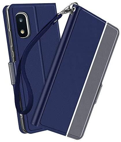 NUPO ドコモ Galaxy A21 SC-42A ケース PUレザー素材 手帳型 カバー 全面保護 ストラップ付 カード収納_画像1
