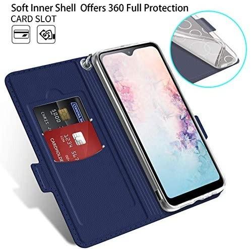 NUPO ドコモ Galaxy A21 SC-42A ケース PUレザー素材 手帳型 カバー 全面保護 ストラップ付 カード収納_画像2