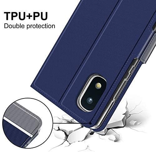 NUPO ドコモ Galaxy A21 SC-42A ケース PUレザー素材 手帳型 カバー 全面保護 ストラップ付 カード収納_画像3
