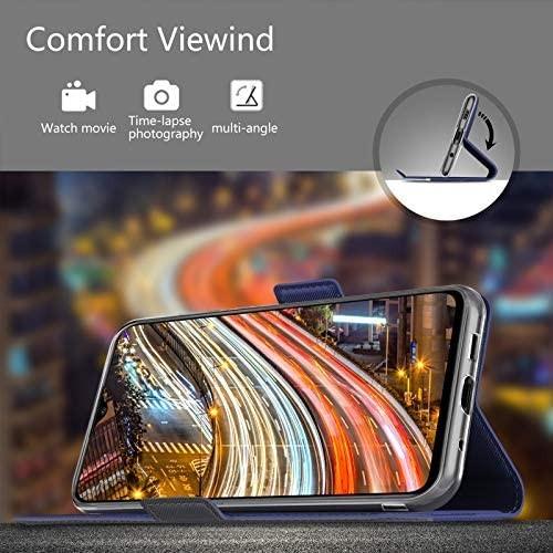 NUPO ドコモ Galaxy A21 SC-42A ケース PUレザー素材 手帳型 カバー 全面保護 ストラップ付 カード収納_画像5