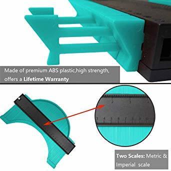 250mm グリーン 250mm 型取りゲージ コンターゲージ 250mm 測定ゲージ 測定工具プラスチック製 目盛付き(グリ_画像2