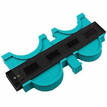 250mm グリーン 250mm 型取りゲージ コンターゲージ 250mm 測定ゲージ 測定工具プラスチック製 目盛付き(グリ_画像4