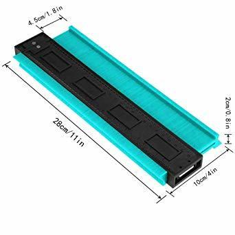 250mm グリーン 250mm 型取りゲージ コンターゲージ 250mm 測定ゲージ 測定工具プラスチック製 目盛付き(グリ_画像3