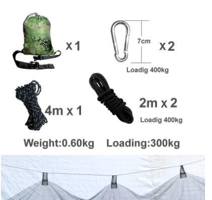 大人気!ゆったりハンモック♪キャンプ 蚊帳付き ハンモック Hammac シングル 旅行 セット スイング_画像6