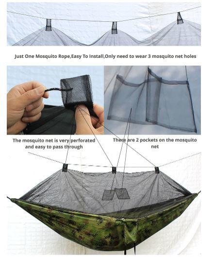 大人気!ゆったりハンモック♪キャンプ 蚊帳付き ハンモック Hammac シングル 旅行 セット スイング_画像3