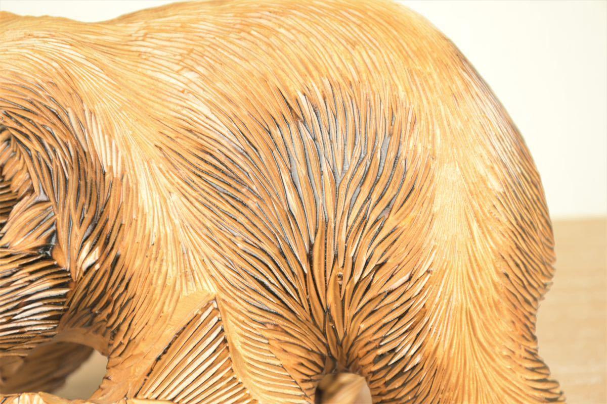 木彫りの熊 台座付き 北海道 民芸品 熊の置物 オブジェ 飾りもの インテリア_画像8