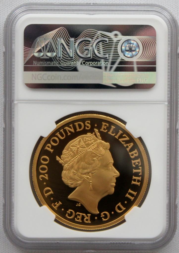 2020年 イギリス ブリタニア 2oz 200ポンド 金貨 NGC PF70UC 最高鑑定品!!発行枚数160枚!_画像5