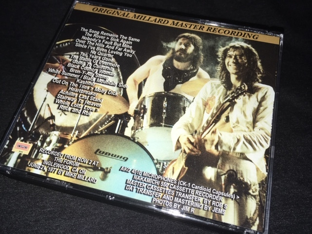 Empress Valley系 ★ Led Zeppelin -「Forum 1977」The Lost And Found Mike The MICrophone Tapes Volume 50 プレス3CD_画像2