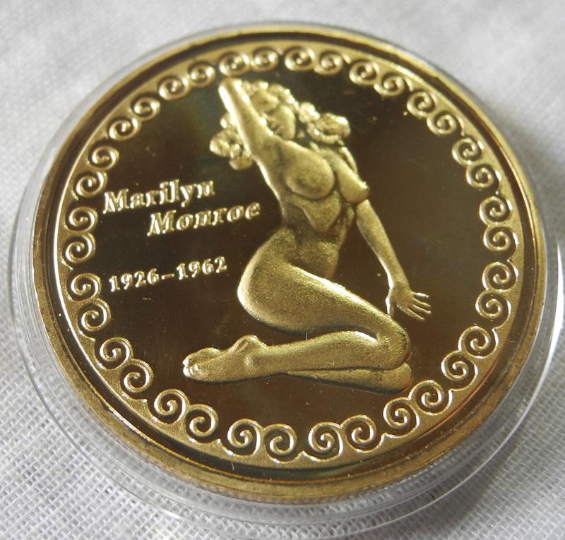 マリリン・モンロー コレクションコイン 記念メダル エナメル加工 24KP 1oz 1オンス 黒 裸 金貨 アメリカ_画像3