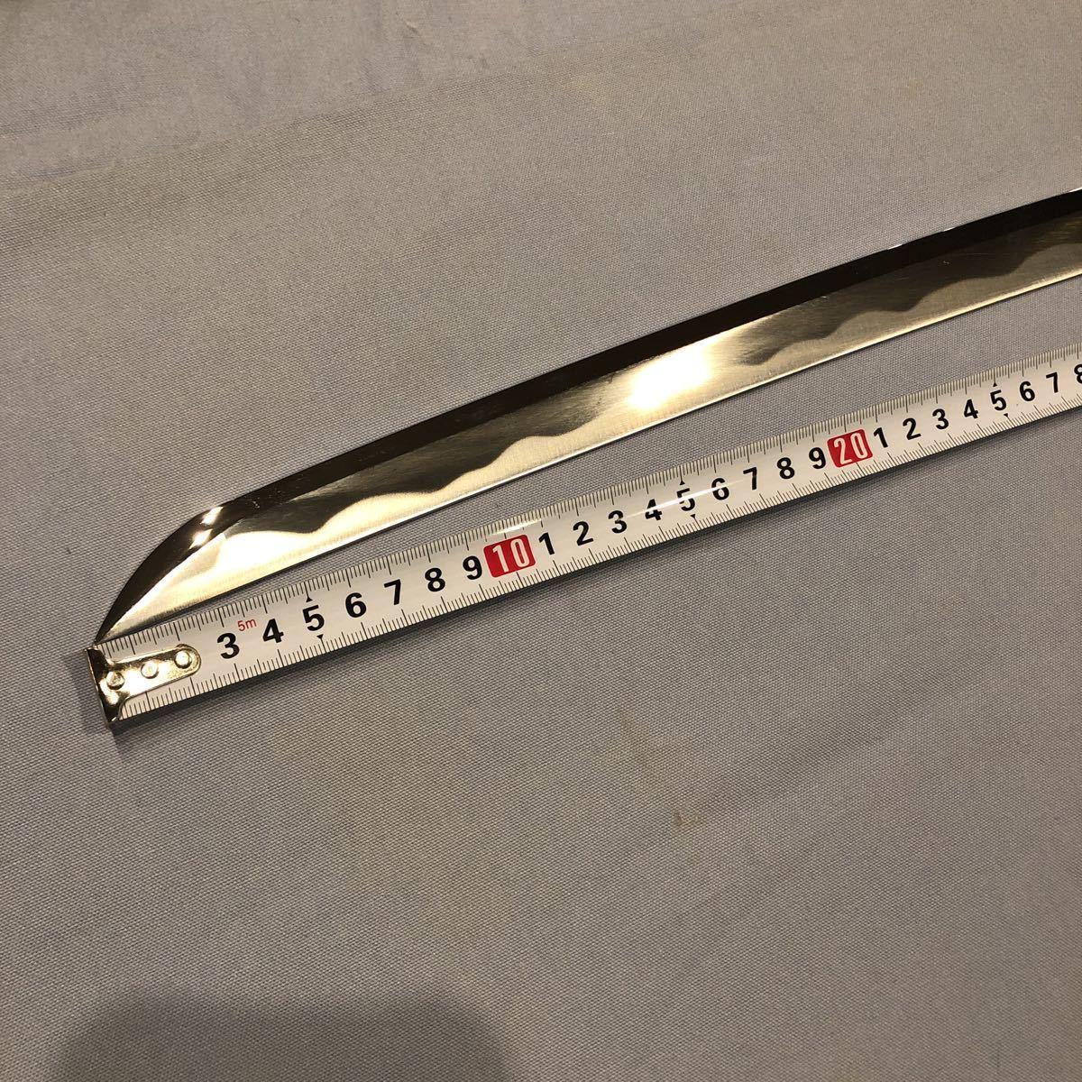 逆刃刀 模造刀 刀身のみ 金型 亜鉛合金 全長900 刃渡り700 反り約20 660グラム_画像1