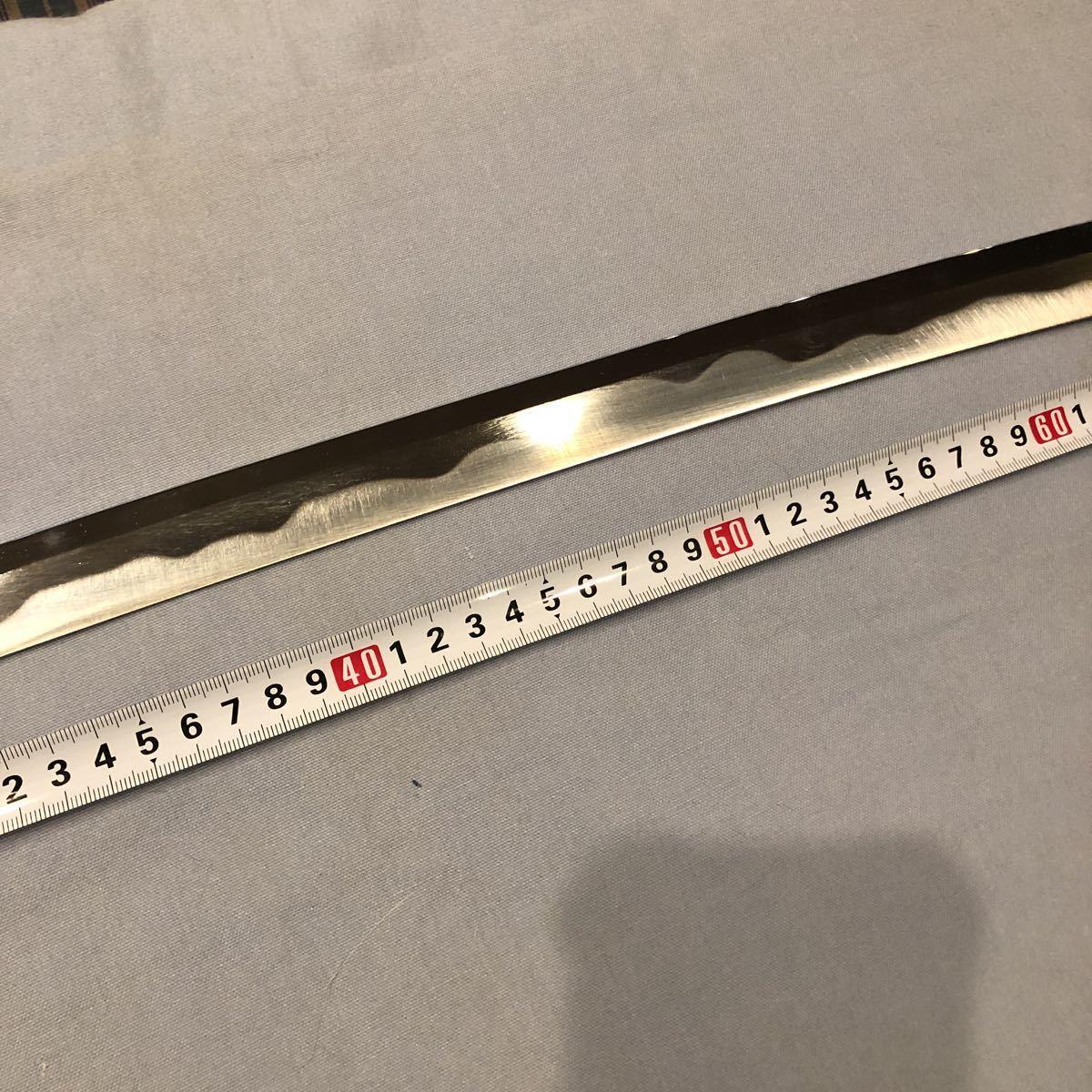 逆刃刀 模造刀 刀身のみ 金型 亜鉛合金 全長900 刃渡り700 反り約20 660グラム_画像2