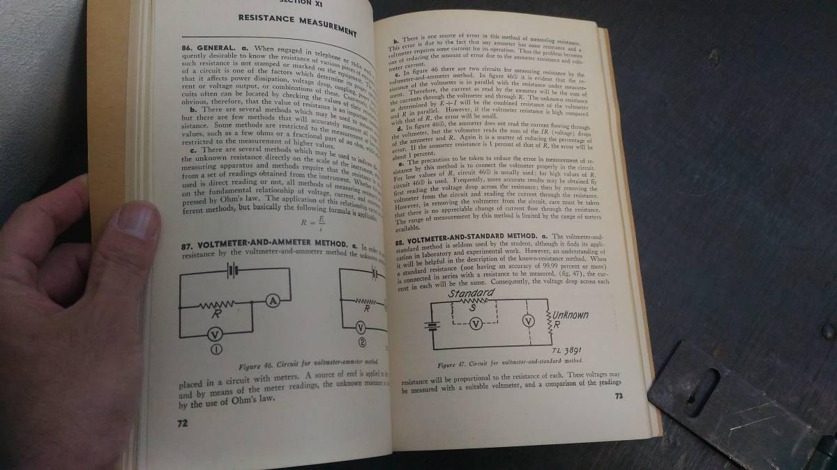 WWII 米軍 技術教範「TM 1-455」電気基礎学 1944年版_画像3