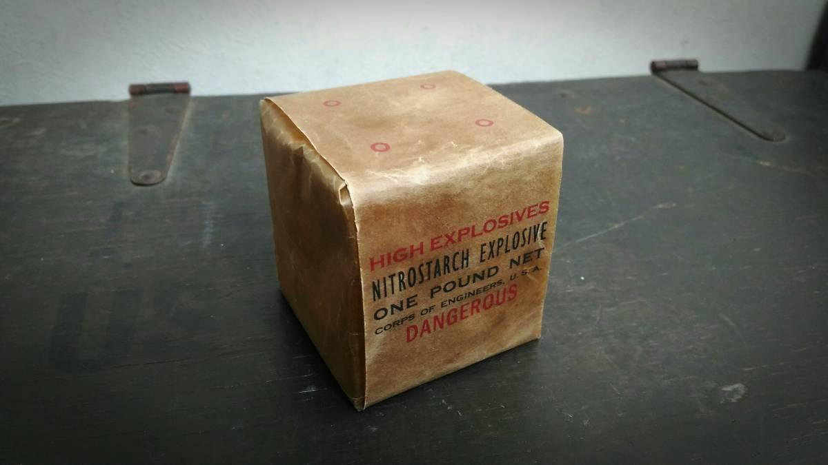 WW2 米軍 硝酸でんぷん爆薬 ニトロスターチ 1ポンド包装 レプリカ_画像1