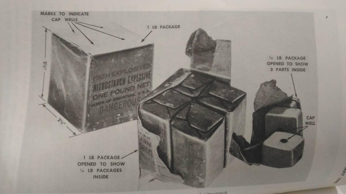 WW2 米軍 硝酸でんぷん爆薬 ニトロスターチ 1ポンド包装 レプリカ_画像6