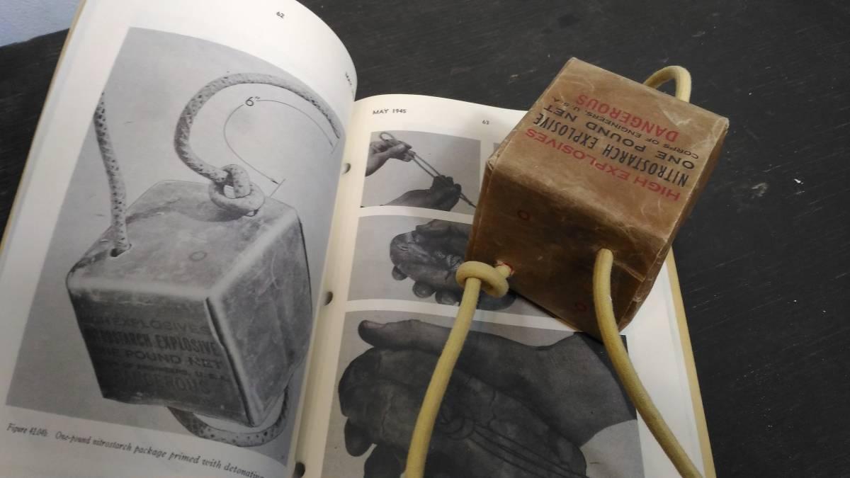WW2 米軍 硝酸でんぷん爆薬 ニトロスターチ 1ポンド包装 レプリカ_画像5