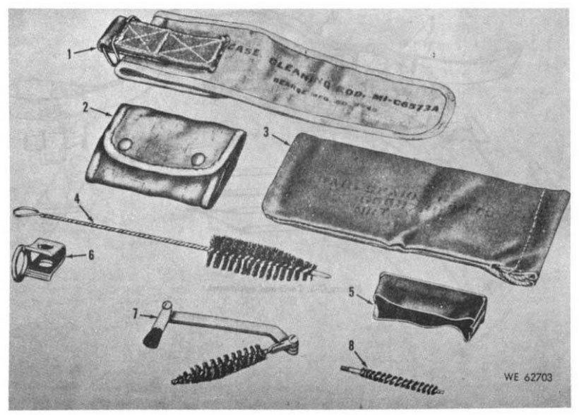 WWII 米軍 30口径小火器用 クリーニングロッド M1 収容ケース_画像5
