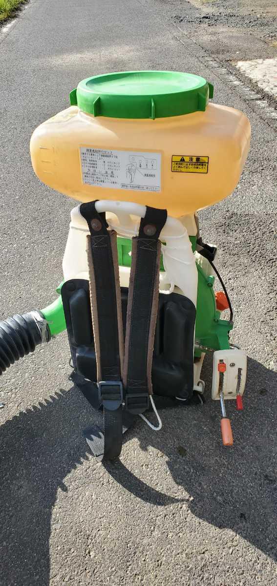 簡単に動作確認済み☆共立DMD421 背負い式動力散布機  散布機 _画像6