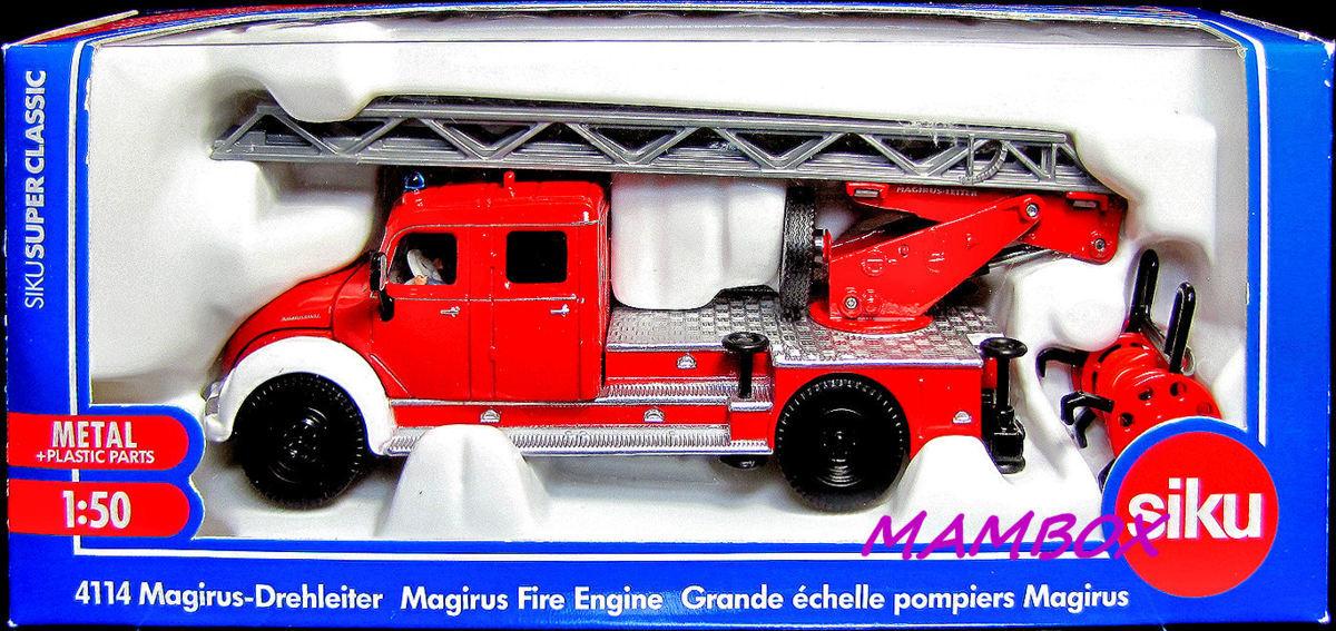 【フリマ】ET☆1/50 4114 siku Magirus-Drehleiter Magirus Fire Engin_画像2